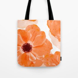 Beautiful Coral Color Flowers White Background #decor #society6 #buyart Tote Bag