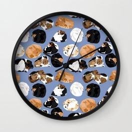 Coonie Curl Blue Wall Clock