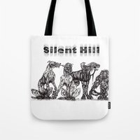 silent hill Tote Bags featuring Silent Hill Hellhounds by nightriot