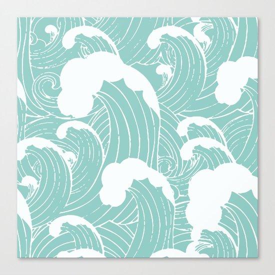 Refreshing waves Canvas Print