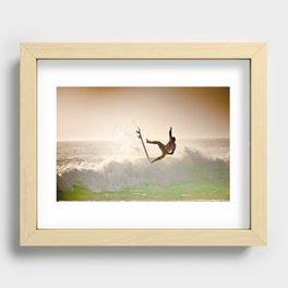 Dane Reynolds, Surfing during world tour of surf Recessed Framed Print
