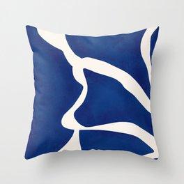 Modern Minimal Abstract Blue #7 Throw Pillow