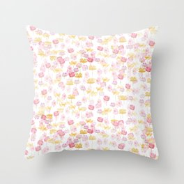 cosmos flower pattern Throw Pillow