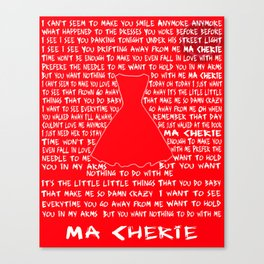 Ma Cherie Lyrical Poster Canvas Print