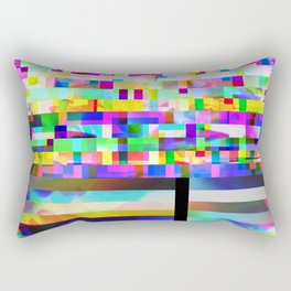 Texture glitched out Rectangular Pillow