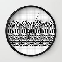 notebook Wall Clocks featuring School notebook 2 by Eva Bellanger