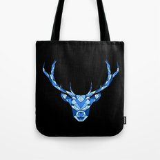 Blue Geometric Deer Tote Bag