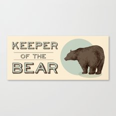 Keeper Of the Bear - For Dad Canvas Print