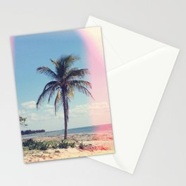 Palm Tree Light Leak Color Nature Photography Stationery Cards