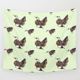 Green Hummingbirds Wall Tapestry