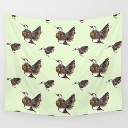 Green Hummingbirds Wall Tapestry
