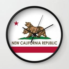 New California Republic Wall Clock