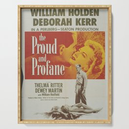 The Proud and Profane Classic Movie Poster Serving Tray