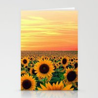 sunflower Stationery Cards featuring Sunflower by Don't Be A Dick