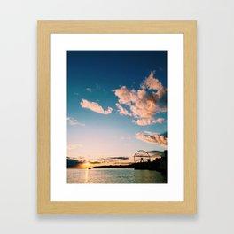 Sunset Seattle Framed Art Print
