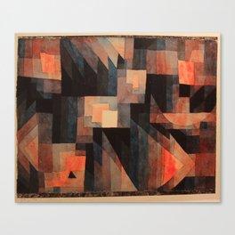 Paul Klee - Gradation, Red-Green (Vermillion) - 1921 Canvas Print