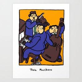 Trois Musichiens Art Print