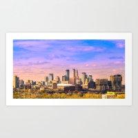 minneapolis Art Prints featuring Minneapolis  by Last Triumph