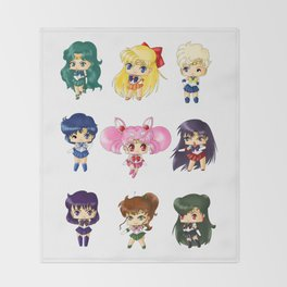 Sailor Scouts Throw Blanket