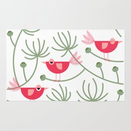 Resting Birdies - Pink Rug