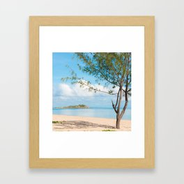 Middle Beach Framed Art Print