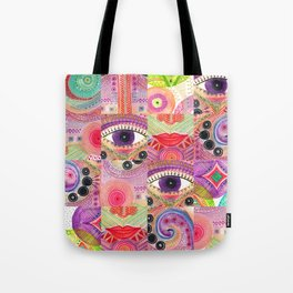 colorful words of a poem Tote Bag