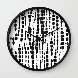 Black and White Tie Dye Wall Clock
