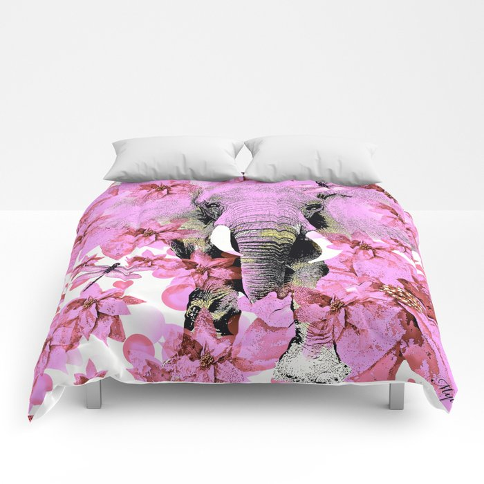 ELEPHANT PINK Comforters