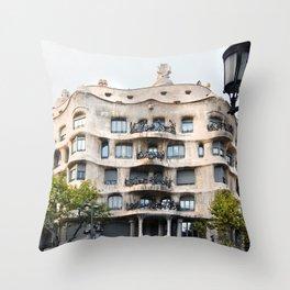 Gaudi Series - Casa Milà No. 1 Throw Pillow