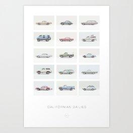 Californian Dailies Art Print