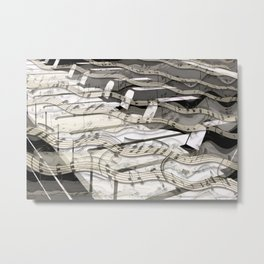 Streaming Piano Music Metal Print