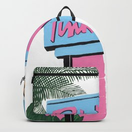 Pink motel Backpack