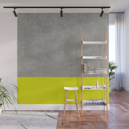 Concrete Colorblock Wall Mural