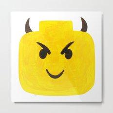 Emoji Minifigure Devil Metal Print