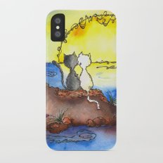 Cats at Sunset Slim Case iPhone X