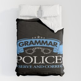 Grammar Police Punctuation Commas Saves Lives Teacher Gift Comforters