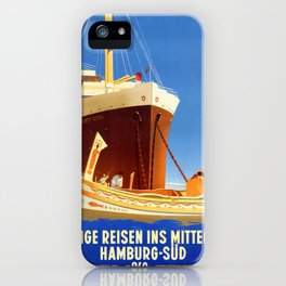 Santa Rosa - Vintage German Passenger ship poster iPhone Case