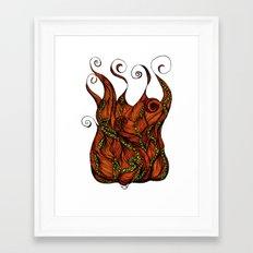 Vine Head Framed Art Print