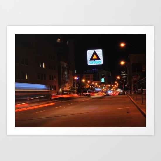 See It Go -- Boston Night.  Kenmore Square Art Print