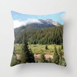 Mineral Creek - Heart of the 1880's Silver and Gold Rush in the San Juans Throw Pillow