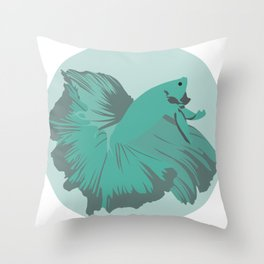Halfmoon Betta Throw Pillow