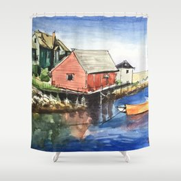 Peggy's Cove Nova Scotia Canada Shower Curtain