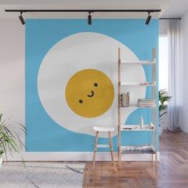 Kawaii Fried Egg Wall Mural