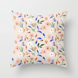 Tulum Floral Throw Pillow