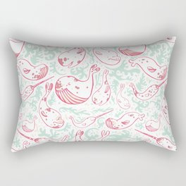 Whale Wash Rectangular Pillow