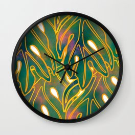 Lau Ulu Wall Clock