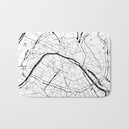 Paris Minimal Map Bath Mat