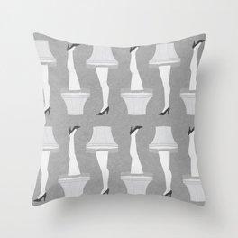 Leg Lamp Grey Throw Pillow
