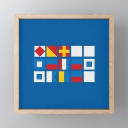 NAUTICAL FOR PETE'S SAKE Framed Mini Art Print