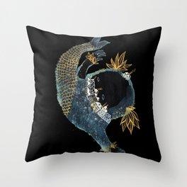 Fish City III Throw Pillow